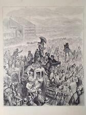 El Derby, la carrera por Gustave Dore 1872 antiguo de impresión, Londres, Original Rara