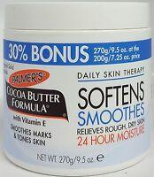 Palmers Cocoa Butter Original Solid Formula Cream Jar 270g Vitamin E
