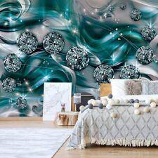 Tapete Fototapete Vlies  Luxus-Schmuckdesign Diamanten Türkis