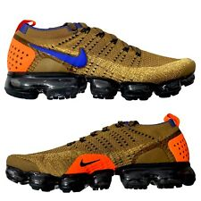 Nike Air Vapormax Flyknit 2 Golden Beige Racer Blue 942842-203 Men Size 9.5 NEW