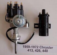 CHRYSLER 413-426-440 BLACK Ready-To-Run Small Cap HEI Distributor+Black 45K Coil