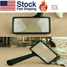 USA Rectangular 5X Magnifier Magnifying Glass Loupe For Reading Jewelry Handheld