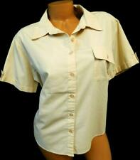 Basic editions beige folded collar women's plus dressy career top Extra Large