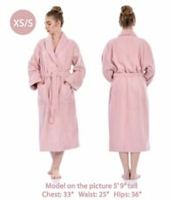 075bec8339 Bathrobe Men Women Unisex Turkish Cotton Terry Spa Soft Towel Bathroom -  PINK