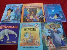 Bundle of six rare Disney books. Winnie the Pooh, Jungle Book, Dinosaur etc.
