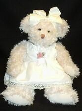 Beautiful Bearnice Bear Creamy Shag Plush Teddy Sundress n Bloomers Russ Berrie