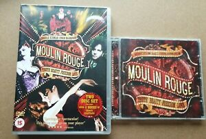 Moulin Rouge (DVD, 2004, 2-Disc Set) and Soundtrack (CD, 2004) lot