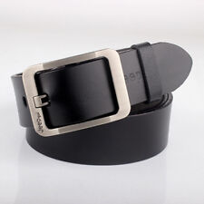 Men Genuine Leather Belt Casual Vintage Single Prong Business Dress Metal Buckle