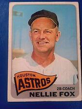 Nellie Fox 1965 Topps Baseball # 485 Houston Astros Hof (wrinkle next to light)