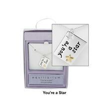 Your'e a star Message tag necklace Silver plated Gift box Equibrilibrium New