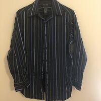 A Claiborne Company Dress Shirt Men's S Multi-Colored Stripes Long Sleeve