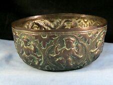 More details for antique copper offering prayer bowl dish hindu indian deity deities ganesh gods