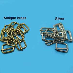 Metal Sliding Bar Strap Adjuster Buckles Slider 20 25 32 38 50mm Tri Glides Pin