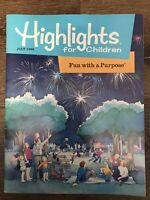 VINTAGE Highlights For Children Magazine The Monthly Book July 1996