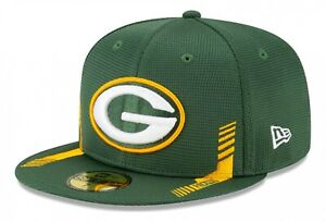 New Era - NFL Green Bay Packers 2021 Sideline Home 59Fifty Fitted Cap - Grün