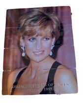 Uk Princess Diana phonecards new. Puzzle set of 8. Diana Princess of Wales. 1961