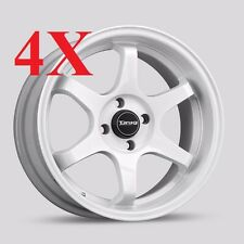 Drag Wheels Dr-53 16x8.25 4x100 +25 JDM White Concave Rims For Civic Cube XB Fit