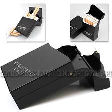 Portasigarette in Alluminio Nero Pacchetto Case Portatile 20 Sigarette Tabacco