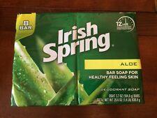 Irish Spring Deodorant  Soap Aloe 8 Bars (3.7 oz each bar)  Sealed