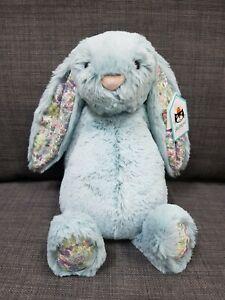 Kids Soft Toy - Jellycat Blossom Aqua Bunny Medium- Baby Kids Birthday Present!