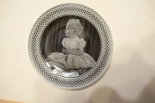 1953 Princess Anne Frosted Glass Dish, Queen Elizabeth Coronation