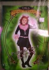 GIRLS PURRR-FECT KITTY COSTUME SIZE SMALL INCLUDES DRESS, TAIL, BELT & EARS