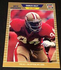 CHARLES HALEY 1989 Pro Set ERROR Blank Back Super Bowl XXIV Proof? RARE 49ers