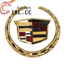 6 In Cadillac Wreath Crest Turck Grill Grille 3D Logo Emblem Badge Sticker