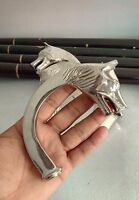 Wolf Head Silver Plated Vintage Brass Style Walking Stick Wood Canes