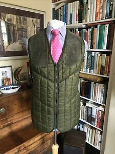 Barbour Green Puffer Shooting Vest