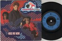 "THOMPSON TWINS Hold Me Now  7"" Ps, B/W Let Loving Start, Twins 2"