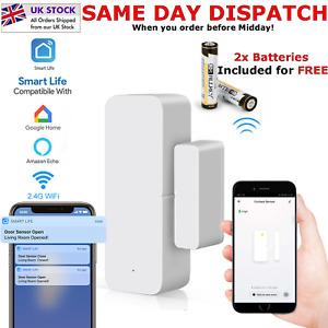 WiFi Smart Door Window Sensor Home Security Alarm Detector For Alexa Google Home