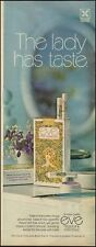 1972 Vintage ad for Eve Filter Cigarettes`retro package violets (121015)