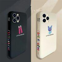 Korean Phone case for apple iPhone 12 11 7 8 Japanese Color border Monster cover