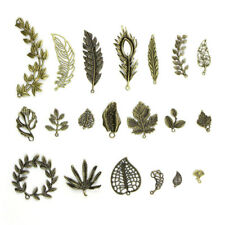 20pcs/Set Antique Leaves Charm Pendant Beaded Jewelry Making Findings Craft DIY^
