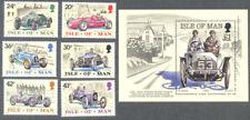 Isle of Man-Vintage Cars set & Min sheet mnh 1995