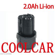 Battery For Bosch 10.8V 12V Li-ion 2.0Ah 2607336013 2607336014 GSR GDR 10.8V-Li