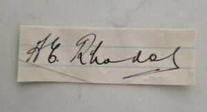 RARE HAROLD RHODES DERBYSHIRE CRICKET SIGNED IN PERSON NEAT CUT ASHES ENGLAND