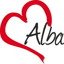 """Auto Aufkleber """" ALBA """" Sticker Schottland Großbritannien ca.9x9cm konturgeschn."""