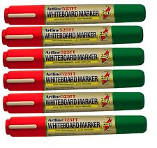 White board marker pens dry erase easy wipe 2 in1 bullet Chisal Tip PACK OF 6