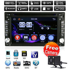 "GPS Nav 6.2"" HD Double 2DIN Car Stereo Radio DVD MP3 Player Bluetooth TV USB+CAM"