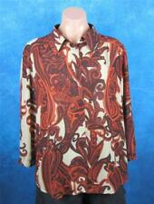 Rockmans, Size 16, Ladies Burnt Orange, Long Sleeve Blouse.