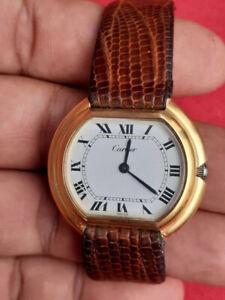 Cartier Ellipse 18K Electroplated mens watch