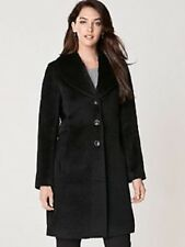 WOMEN'S PENDLETON WALKER COAT LONG BLACK WOOL/ALPACA SIZE 16 NWT!
