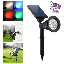Solar Power 7 LED Spotlight Landscape Lights Outdoor Garden Pathway Lawn Lamp