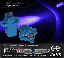 LED B8.3D Twist Lock Xenon Blue Dashboard Cluster Speedo Instrument Bulbs 12v