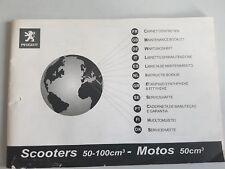 Peugeot Scooters 50-100 ccm - Maintenance Booklet - FR IT ES EN DE NL ALL
