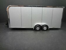 1:64 Scale enclosed car trailer gray opening door & ramp Loose New Mint 1:64