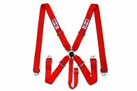 STR SFI 5-Point Racing Safety Harness Seat Belt Aircraft Camlock F1 F2 - Red