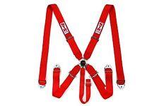 5 Point Racing Safety Harness Cintura di sicurezza degli aeromobili SFI CAM LOCK rilascio ROSSO